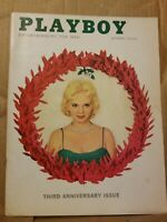 Playboy December 1956 * Very Good Condition * Free Shipping USA