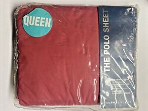 NEW Ralph Lauren QUEEN Deep Fitted Sheet POLO PONY STRAWBERRY Light Red