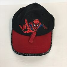Marvel Spiderman Toddler Hat Baseball Cap Black Red Universal Studios Adjustable