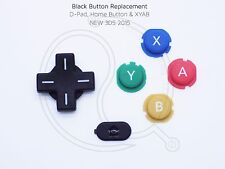 Nintendo New 3DS 2015+ Black Replacement Keys/Buttons DPad XYAB home console