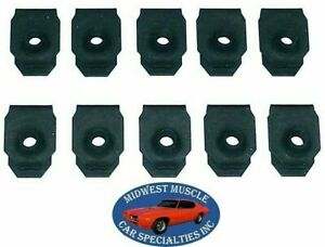 GM Body Fender Dash Factory Correct #8-32 Screw Bolt U Clip Panel J Nut 10pcs M