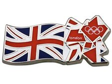 "OFFICIAL LICENSED LONDON 2012 OLYMPIC GAMES ""UNION JACK FLAG & LOGO"" PIN / BADGE"