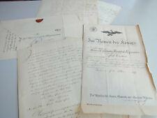 15 Dokumente BERLIN 1855-1863, Laufbahn Post-Sekretär Engmann, Sign. v. d. Heydt
