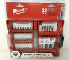 New Milwaukee Shockwave Impact Driver Bit Set 32 pc 48-32-4004 Wear Tip Guard