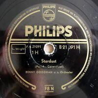 "Benny Goodman - Stardust - Caravan - Philips - /10"" 78 RPM"