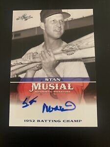 2015 Leaf Stan Musial 1952 Batting Champ Autograph #MA-SM12
