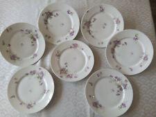 7 assiettes plates  Porcelaine de Limoges  Fin XIXème   Lot 2/2