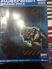 2002  AUSTRALIAN MOTORCYCLE GP  RACE PROGRAMME MOTOGP BIAGGI  ROSSI STONER
