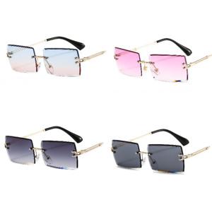 Sonnenbrille Luxus Vintage Getönt Herren Damen Unisex Modern Rechteckig Fashion