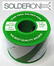 Lead Free Solder 1.5mm 250g Roll Resin Core - AU STOCK