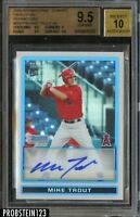 2009 Bowman Chrome Refractor Mike Trout Angles RC Rookie AUTO /500 BGS 9.5
