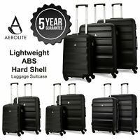 Ryanair EasyJet ABS Hard Shell Hand Cabin Hold Check In Luggage Suitcase + Sets