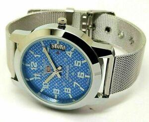 seiko 5 automatic men's steel blue dial 6309 vintage japan watch run