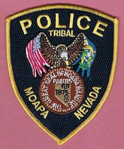 MOAPA NEVADA TRIBAL POLICE SHOULDER PATCH GOLD BORDER
