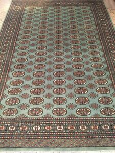 6'x9' hand knotted rug,100% Lambs Wool Light Green
