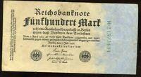 ALLEMAGNE  500 mark 1922