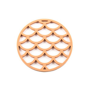 Round Silicone Coaster Cup Heat Resistant Mats Placemat Bowl Dining Home Kitchen