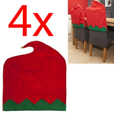 Set of 4 Elf Chair Cover Felt Xmas Dinner Table Decor Christmas Elves Festive