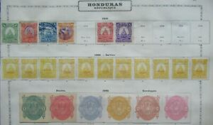 CLASSIC LOT HONDURAS VF USED VF MLH MORE PICTURES B425.70 START $0.99
