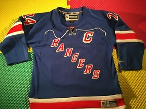 New York Rangers Ryan Callahan Reebok Capitan Blue Hockey Jersey Youth Size L/XL