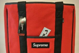 NEW SUPREME FW18 POLARTEC TOTE RED CARRYING PACK box logo bag comme cdg