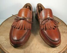 Classics American Style Tan Leather Pebble Scotch Grain Tassel Loafers size 10 D