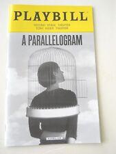 July 2017 - Tony Kiser Theater Playbill - A Parallelogram - Juan Castano
