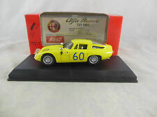 Best Model 9061 Alfa Romeo TZ1 Zagato in Yellow Targa Florio 1965 Racing No 60