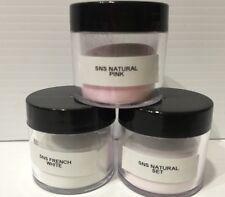 SNS Nail Dipping Powder 0.5oz Pots X 3. Pre-Bonded NEW: French White, Natural