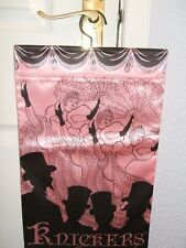 """Luxury Satin Knicker bag. 12"""" x 17 """". Pink with pattern on front. NEW."""