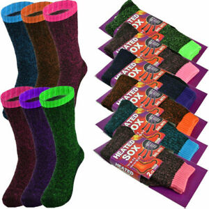 Ladies  Winter Warm Heated Sox Brand Thermal 4 Pairs  Free Shipping