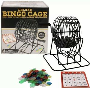 BINGO CAGE  DELUXE Set with Metal Family Games Tradition social **US SELLER**