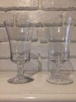 Fostoria Vintage Pair Of Sheraton Iced Beverage  Glasses