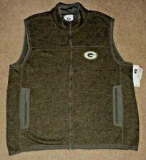 Green Bay Packers Vest Full Zipper Sleeveless Pullover 2XL NFL Team Apparel GIII