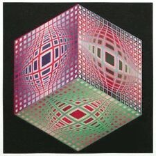 Victor Vasarely Lithograph Test- 2  1971