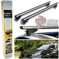 MWay Lockable Aluminium Roof Rack Flush Flat Rail Bars for Kia Sportage QL 2016+