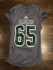 Game Worn Used Eastern Michigan Eagles EMU Football Jersey adidas #65 Size L