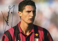 Daniele Massaro, AC Milan, Italy, signed 7x5 inch photo. COA. Proof.