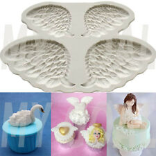 Swan Angel Fairy WINGS Silicone Fondant Mould Cake Decor Gum Paste Icing Mold