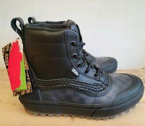 Vans Standard Mid Snow MTE Cherckerboard Black Waterproof Boots for Women
