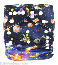 New Reusable Modern Cloth Nappy (MCN) + FREE insert – Space, planets