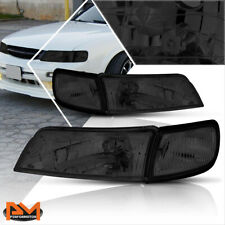 For 97-99 Maxima Direct Replacement Headlight/Lamps Smoked Housing Clear Corner