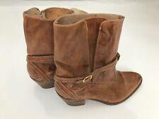 Vtg Jean Pier Clemente Brazilian Leather Rodeo Womens 10D Cowboy Boot Wood Heel
