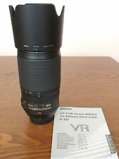 Nikon AF-S VR Zoom Nikkor 70-300mm f/4.5-5.6 G IF ED Lens - very good condition