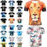 New Men Funny Animals 3D Printing T-Shirt Casual Crew Neck Short Sleeve Top Tees