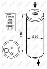 Air Con Receiver Drier 33114 NRF AC Dryer Filter Conditioning 1C0820191 Quality