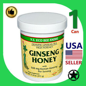 1 Can Y.S. Eco Bee Farms Ginseng Honet 11.0 oz