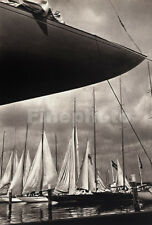 1936 Vintage OLYMPICS Germany SAILING Yacht Boat Photo Art ~ Dr PAUL WOLFF 11X14
