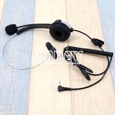 Silver 2.5mm Call Center Hands Free headset Mic for LG 4NE1 vx4400 VX4500 VX4600