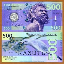 Poneet Islands (Mujand) 500 Kasutu 2015 UNC POLYMER Limited Issue Fantasy Note